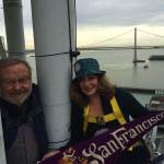 Donna Huggins and Carl Nolte atop Ferry Building