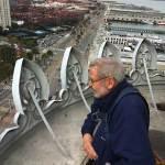 Carl Nolte atop ferry Building