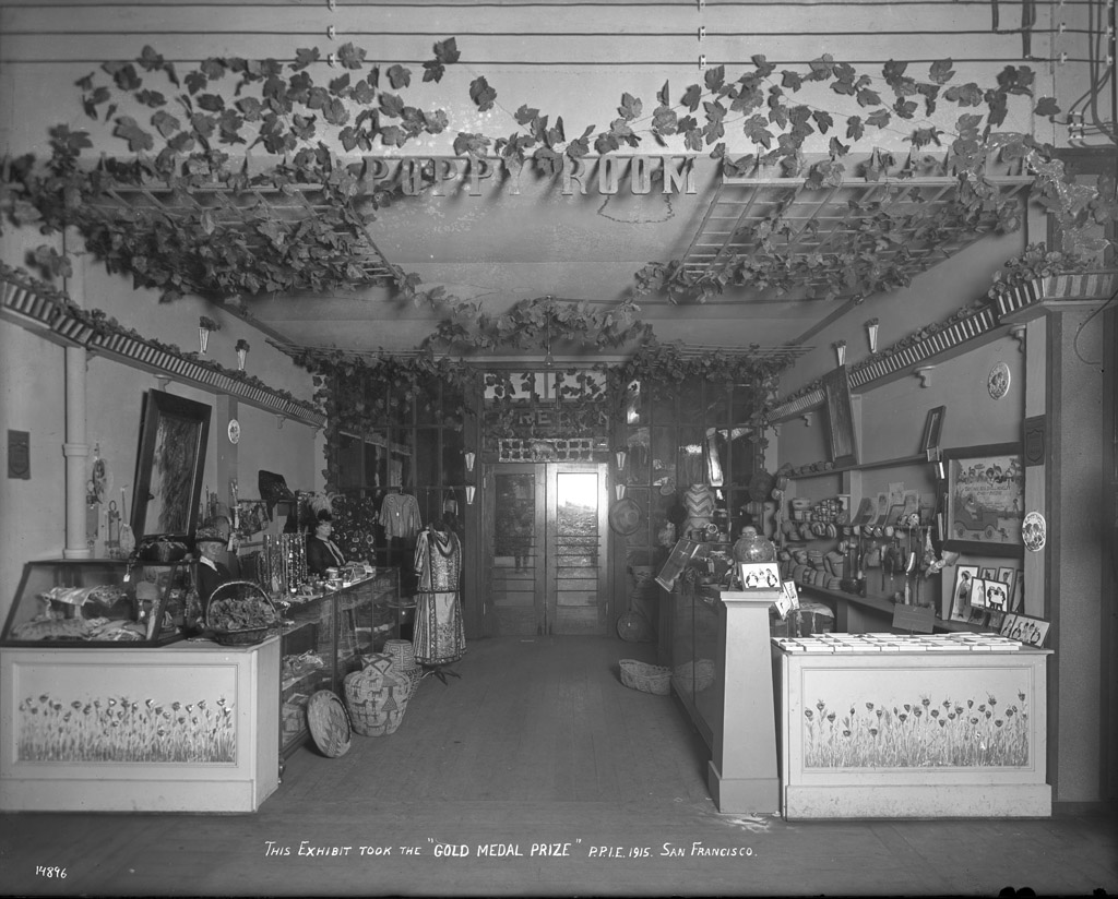 Mrs. Rosey's Poppy Room exhibit. Gold Medal Prize. Courtesy UC Davis Special Collections.