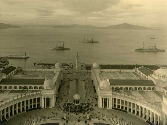 Court of the Universe looking toward the Bay, Panama-Pacific International Exposition, San Francisco, 1915. California Historical Society.
