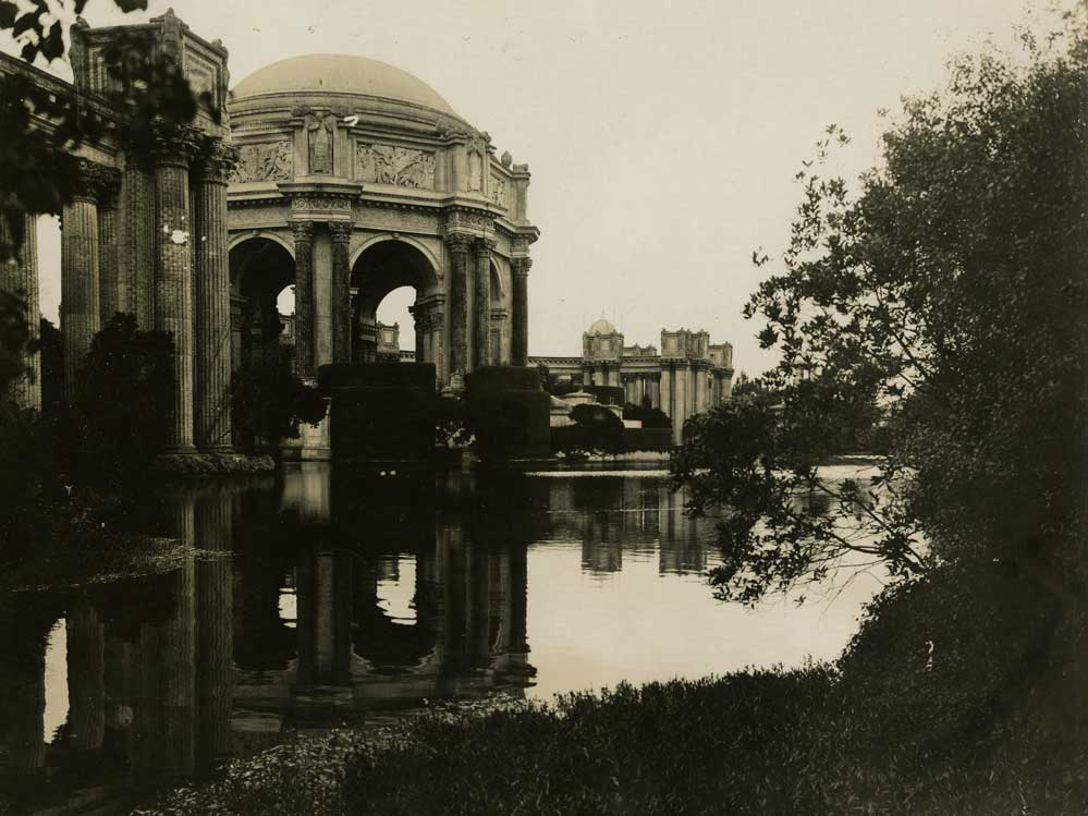 San Francisco Palace of Fine Arts. Photographer: Jesse B. Cook. Courtesy California Historical Society.