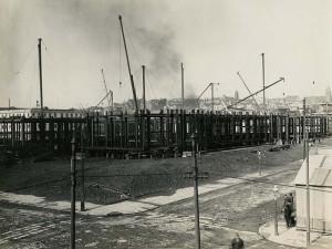 San Francisco City Hall construction, 1913, courtesy, California Historical Society, CHS2015.2002