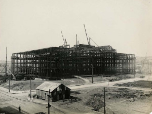 San Francisco City Hall construction, 1913, courtesy, California Historical Society, CHS2015.2003