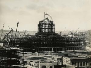 San Francisco City Hall construction, circa 1913-1914, courtesy, California Historical Society, CHS2015.2004