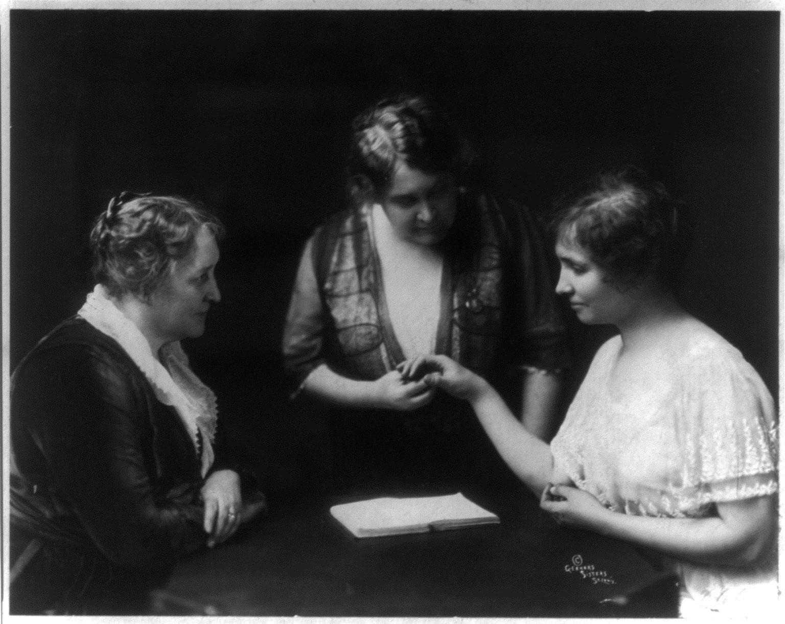 Helen Keller /& Annie Sullivan Photo ca 1892