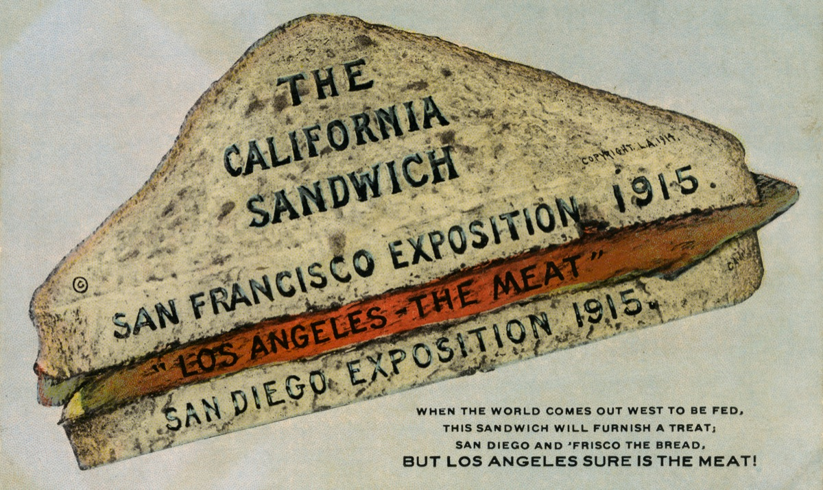 """The California Sandwich,"" 1915 San Diego History Center"